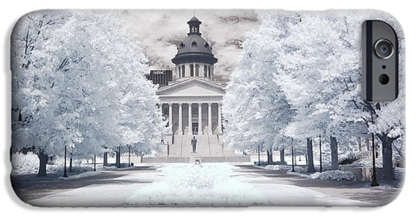 Surreal Landscape Photographs iPhone Cases - Columbia South Carolina Infrared Landscape  iPhone Case by Kathy Fornal