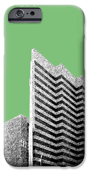 Pen And Ink iPhone Cases - Columbia South Carolina Skyline 2 - Apple iPhone Case by DB Artist