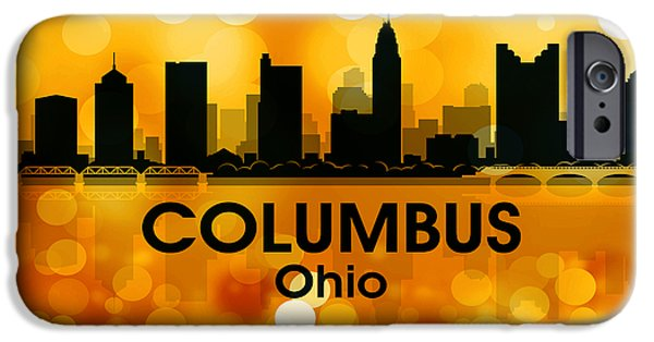 Concrete Jungle iPhone Cases - Columbus OH 3 iPhone Case by Angelina Vick