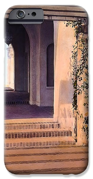 Columns and Flowers iPhone Case by Terry Reynoldson