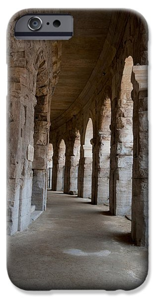 Arles iPhone Cases - Columns Of Amphitheater, Arles iPhone Case by Panoramic Images