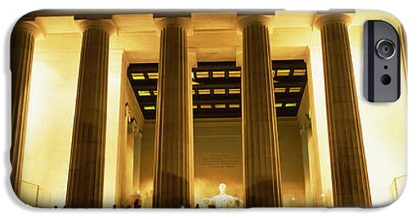 Lincoln iPhone Cases - Columns Surrounding A Memorial, Lincoln iPhone Case by Panoramic Images