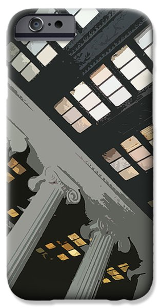 Greek Sculpture Paintings iPhone Cases - Columns iPhone Case by Julio R Lopez Jr