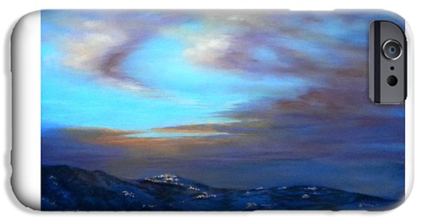 Dark Skies Pastels iPhone Cases - Comares at Night iPhone Case by Heather Harman