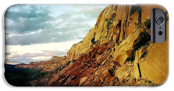 Slickrock iPhone Cases - Comb Ridge Utah iPhone Case by Mario Malvino