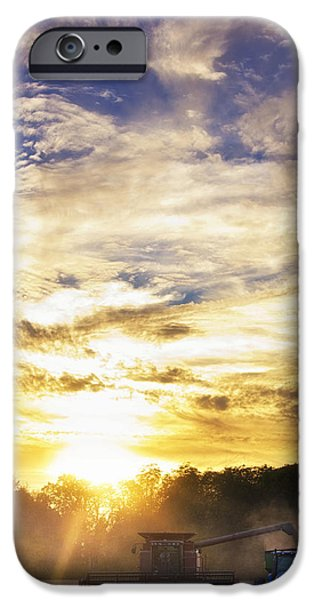 Surfer Magazine iPhone Cases - Combine at Sunset iPhone Case by Michael Huddleston