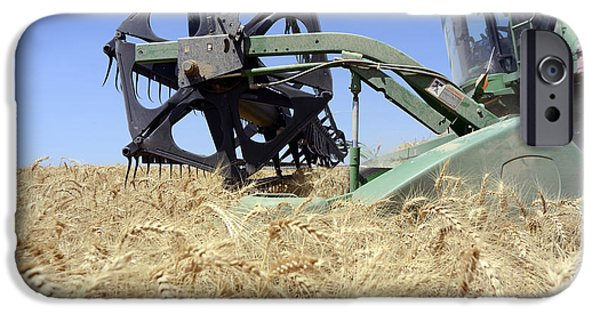 Machinery iPhone Cases - Combine harvester  iPhone Case by Shay Fogelman