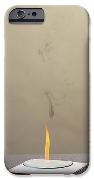 Combustion Of An Alkene iPhone Case by Martyn F. Chillmaid