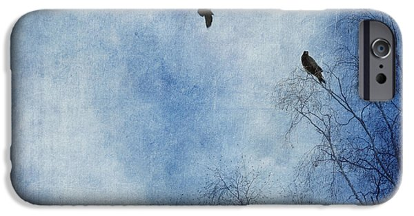 Eerie iPhone Cases - Come Fly With Me iPhone Case by Priska Wettstein