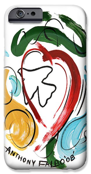 Santa Digital Art iPhone Cases - Come Into My Heart iPhone Case by Anthony Falbo
