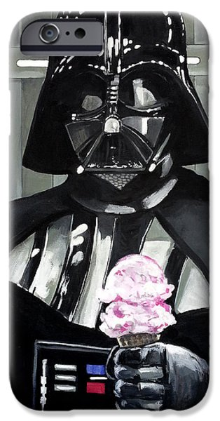 War iPhone Cases - Come to the Dark Side... We Have Ice Cream. iPhone Case by Tom Carlton