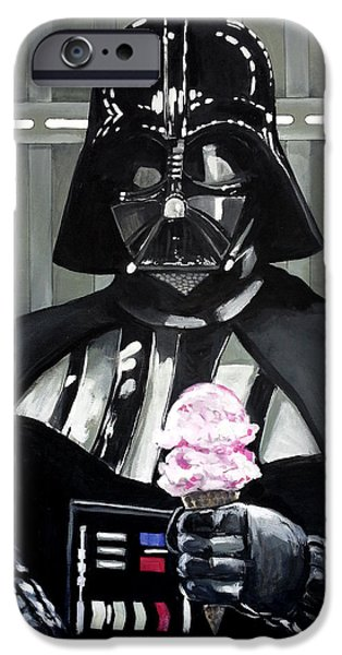 Tom iPhone Cases - Come to the Dark Side... We Have Ice Cream. iPhone Case by Tom Carlton