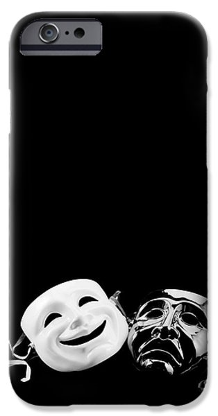 Masks iPhone Cases - Comedy and Tragedy iPhone Case by Jon Neidert