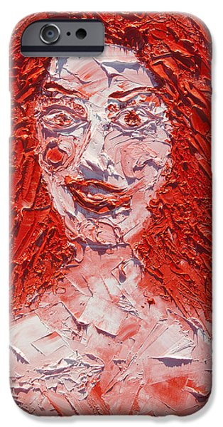 Archetype Paintings iPhone Cases - The Laughter of Medusa iPhone Case by Sora Neva