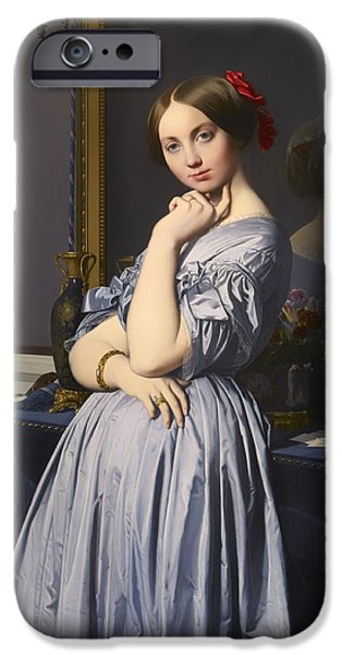 Chin On Hand Paintings iPhone Cases - Cometesse d Haussonville iPhone Case by Jean-Auguste-Dominique Ingres