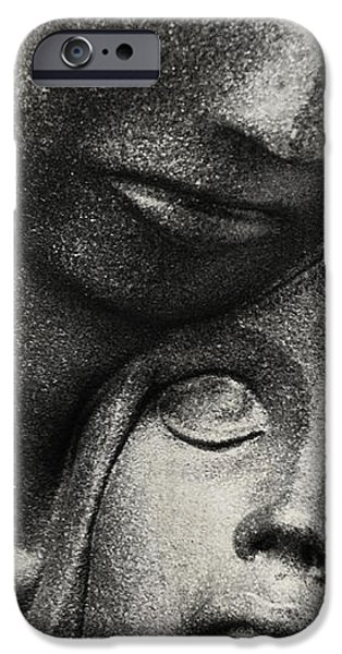 Statue Portrait iPhone Cases - Comfort  iPhone Case by Jerry Cordeiro