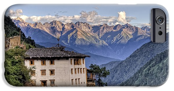 Tibetan Buddhism iPhone Cases - Comfortable House in Yubeng iPhone Case by James Wheeler