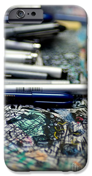 Comic Book Artists Workspace Study 1 iPhone Case by Amy Cicconi