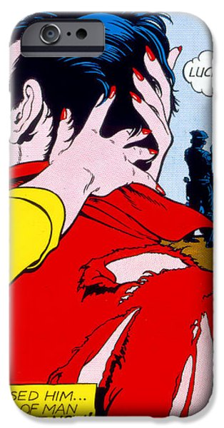 Comic Strip Kiss iPhone Case by MGL Studio