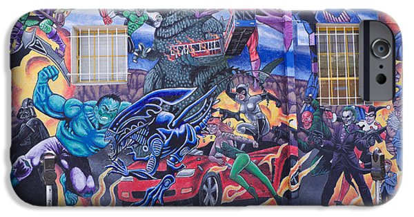X-men iPhone Cases - Comics Mural Albuquerque iPhone Case by Mary Lee Dereske