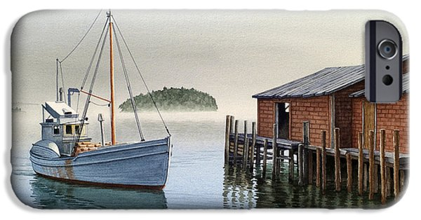 Maine Seascapes iPhone Cases - Coming In iPhone Case by Paul Krapf