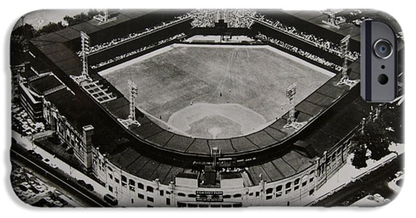 Baseball Stadiums Digital Art iPhone Cases - Comisky Park iPhone Case by Bill Cannon
