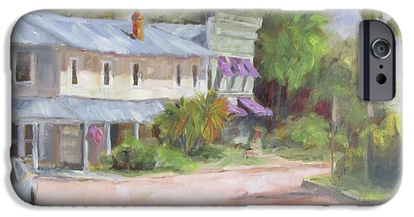 Historic Downtown Franklin iPhone Cases - Commerce Street Apalach iPhone Case by Susan Richardson