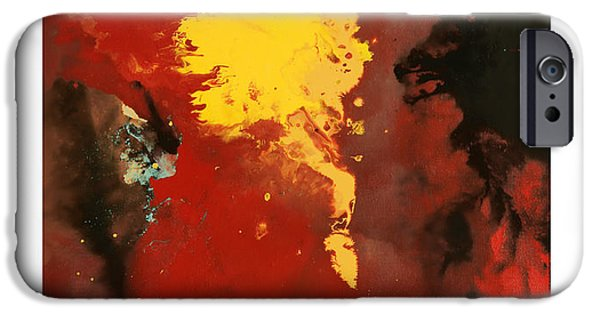 Abstract Digital Paintings iPhone Cases - Commissary 1 iPhone Case by Craig Tinder