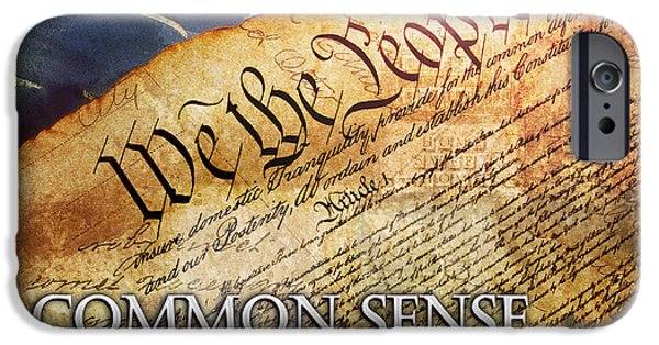 4th Of July iPhone Cases - Common Sense iPhone Case by Evie Cook