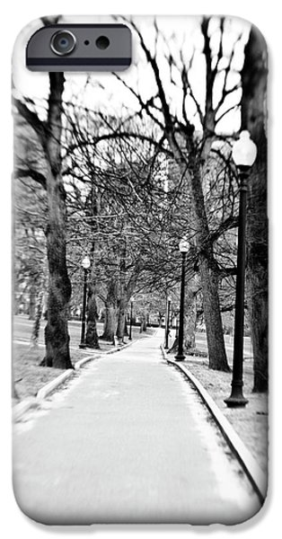 Boston Ma iPhone Cases - Commons Park Pathway iPhone Case by Scott Pellegrin