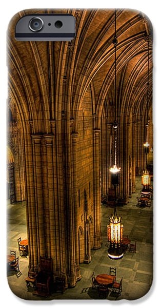 Commons Room Cathedral of Learning University of Pittsburgh iPhone Case by Amy Cicconi
