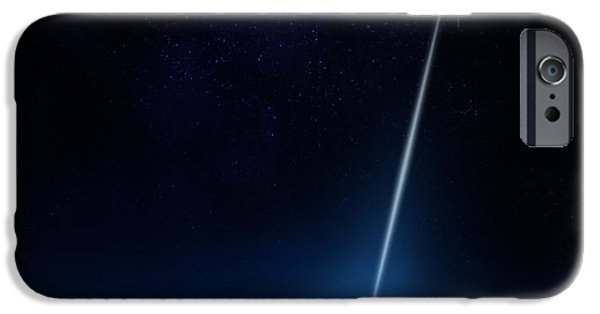 Data Photographs iPhone Cases - Communication between satellite and earth iPhone Case by Johan Swanepoel