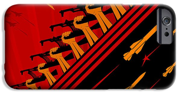 Jet Star iPhone Cases - Communism art iPhone Case by Wagner WM