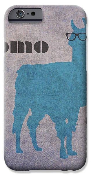 Llama iPhone Cases - Como Te Llamas Humor Pun Poster Art iPhone Case by Design Turnpike