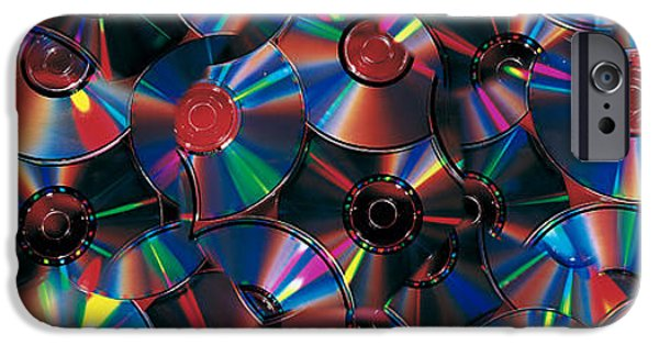 Disc iPhone Cases - Compact Discs iPhone Case by Panoramic Images