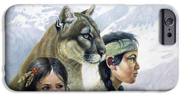 Innocence Mixed Media iPhone Cases - Companions iPhone Case by Gregory Perillo