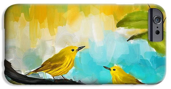 Lovebird iPhone Cases - Companionship iPhone Case by Lourry Legarde
