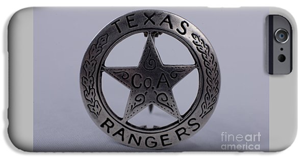 Recently Sold -  - Police Officer iPhone Cases - Company A Texas Ranger Badge iPhone Case by Alan Look
