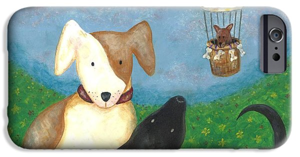 Puppies iPhone Cases - Company Coming iPhone Case by Carol Neal