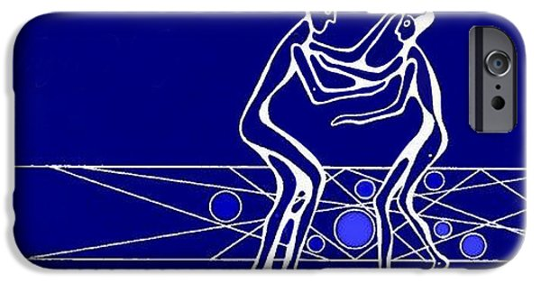Angel Blues iPhone Cases - Compassion iPhone Case by Hartmut Jager