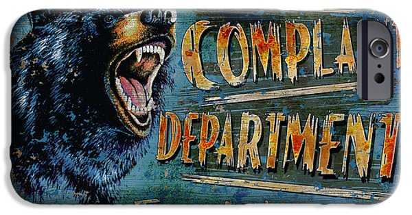 Growling iPhone Cases - Complaint Department iPhone Case by JQ Licensing