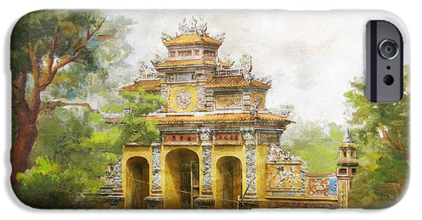 Museum iPhone Cases - Complex of Hue Monuments iPhone Case by Catf