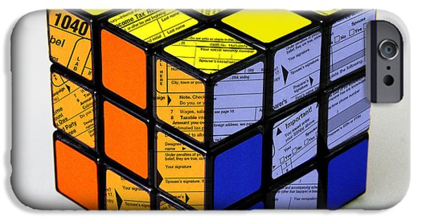 Rubiks Cube iPhone Cases - Complexity Of Income Tax Return iPhone Case by Spencer Sutton