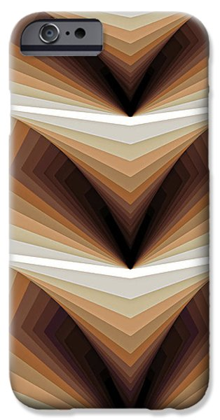 Shape iPhone Cases - Composition 134 iPhone Case by Terry Reynoldson