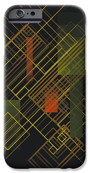 Neo-plasticism iPhone Cases - Composition 15 iPhone Case by Terry Reynoldson