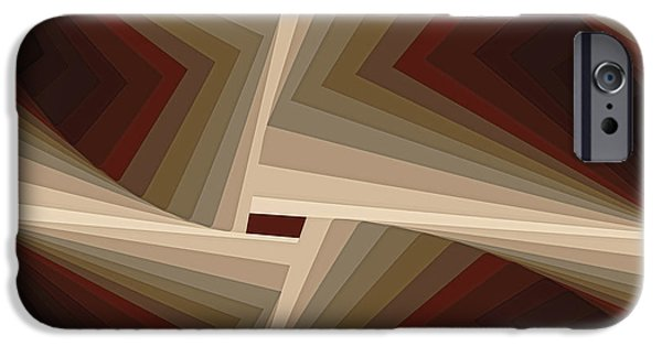Abstract iPhone Cases - Composition 162 iPhone Case by Terry Reynoldson