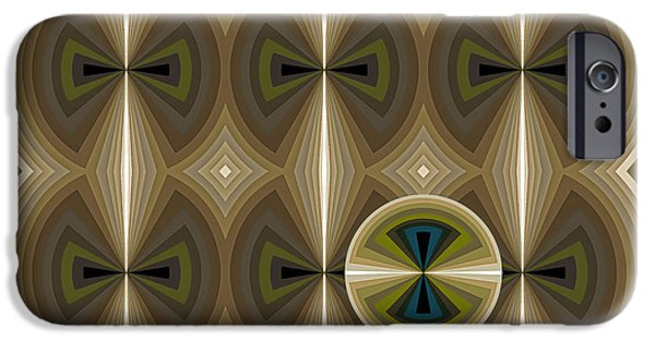 Shapes Paintings iPhone Cases - Composition 181 iPhone Case by Terry Reynoldson