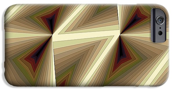 Modern Art iPhone Cases - Composition 193 iPhone Case by Terry Reynoldson