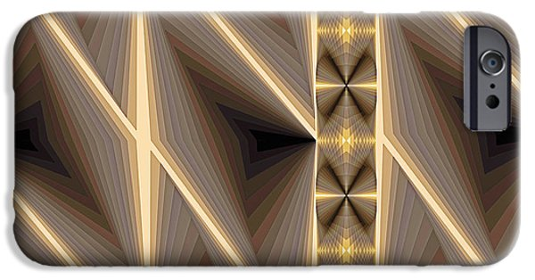 Modern Art iPhone Cases - Composition 236 iPhone Case by Terry Reynoldson