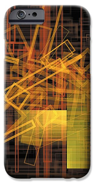Neo-plasticism iPhone Cases - Composition 26 iPhone Case by Terry Reynoldson